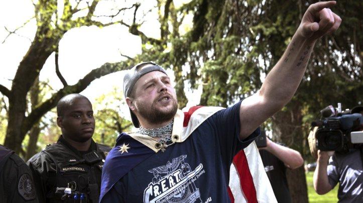 White Protester